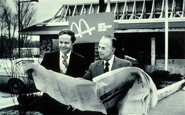 Ray Kroc y Fred Turner en McDonald´s