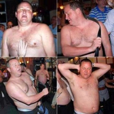 Mike Ashley, presidente de Sportsdirect desnudo