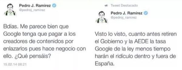 pedro j ramírez sobre el cierre de Google News en España