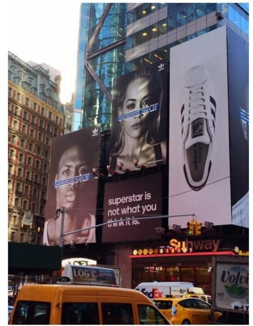 anuncio adidas dame lilliard times square nueva york