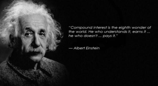 frase Albert Einsten sobre el interés compuesto