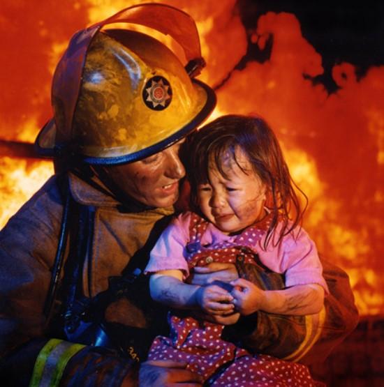 bombero heroe emprendedor
