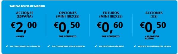 corredor y agente de bolsa de bajo coste en España