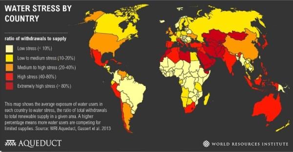 riesgo y probabilidad de sequía en los diferentes países del mundo