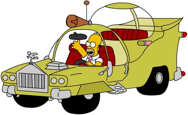 coche diseñado por Homer Simpson