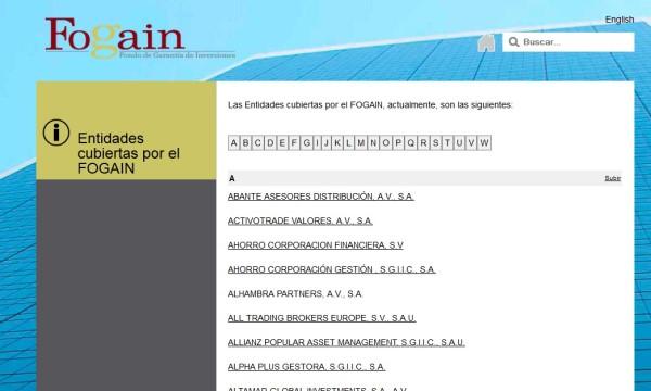 brokers cubiertos por el fogain 2016 y 2017 en España, México, Argentina, Colombia y Chile