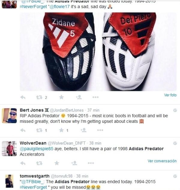 despedida fans adidas predator