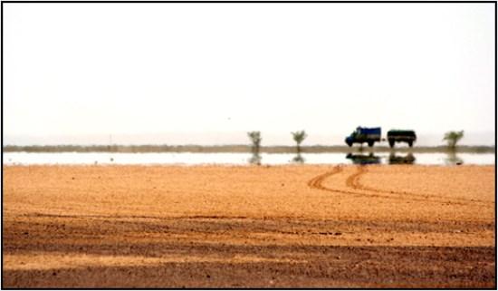 espejismo desierto