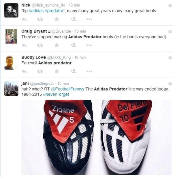 adidas predator despedida witter