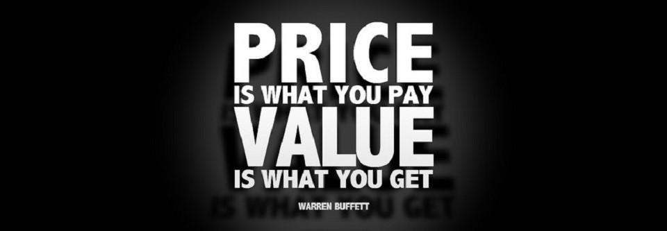 diferencia entre precio y valor inversión