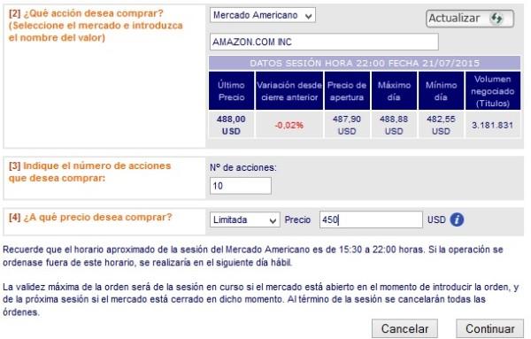 broker para adquirir acciones de Amazon en Eapaña o Ecudor