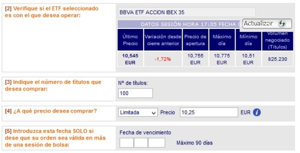invertir en etfs del IBEX 35