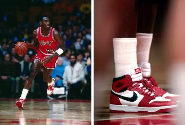 michael jordan y acciones de Nike en 2015, 2016, 2017, 21018 y 2019