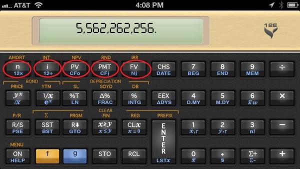 calculadora financiera teclas fv y pv