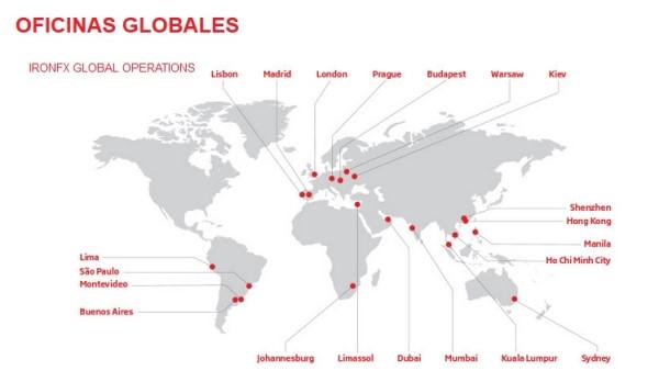 Salas de trading repartidas por el mundo
