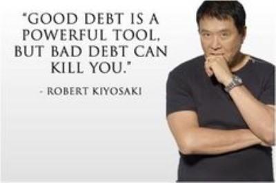 opinión de kiyosaki sobre las deudas