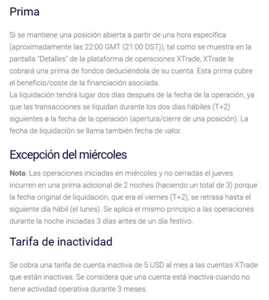 condiciones de xtrade broker para el año 2017 y 2018 en España, Argentina, México, Chile y Colombia