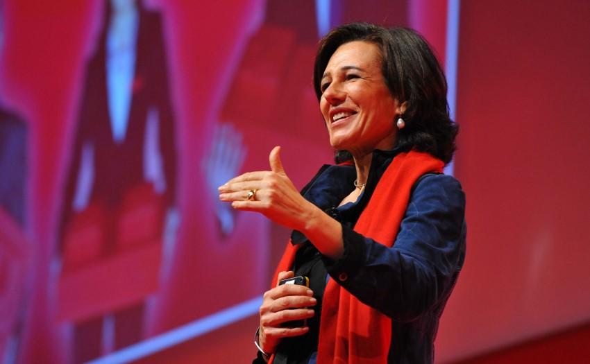 Ana Patricia Botín en un charla en 2017